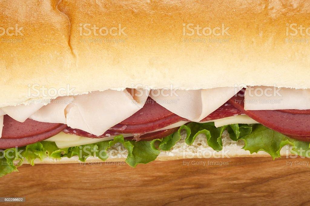 macro sandwich stock photo