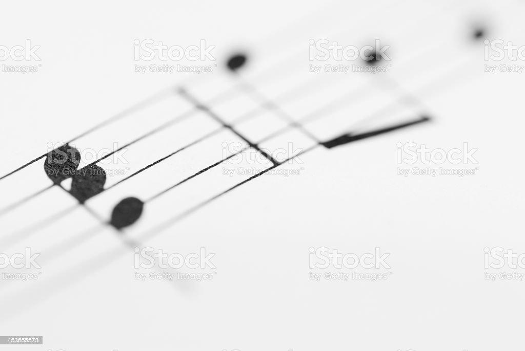Macro Sheet Music Notes. royalty-free stock photo