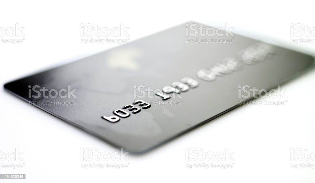 macro shoot of a credit card. stock photo