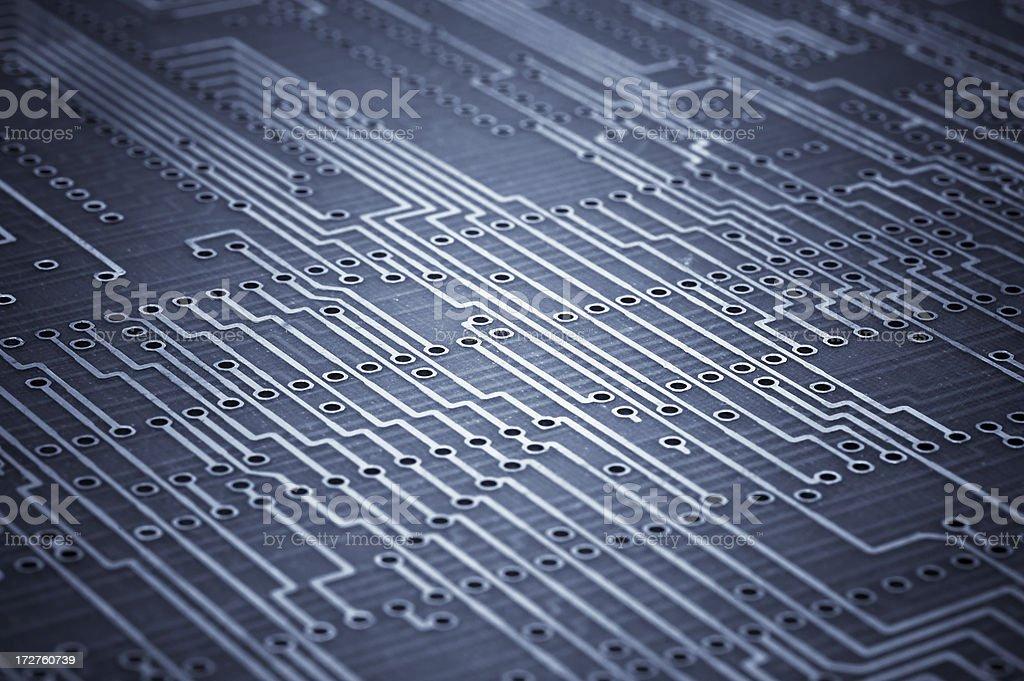 Macro shoot of blank microcircuit board. Technology background royalty-free stock photo