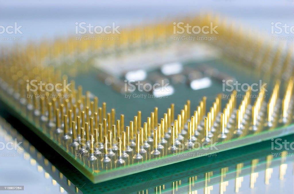 CPU macro shoot stock photo