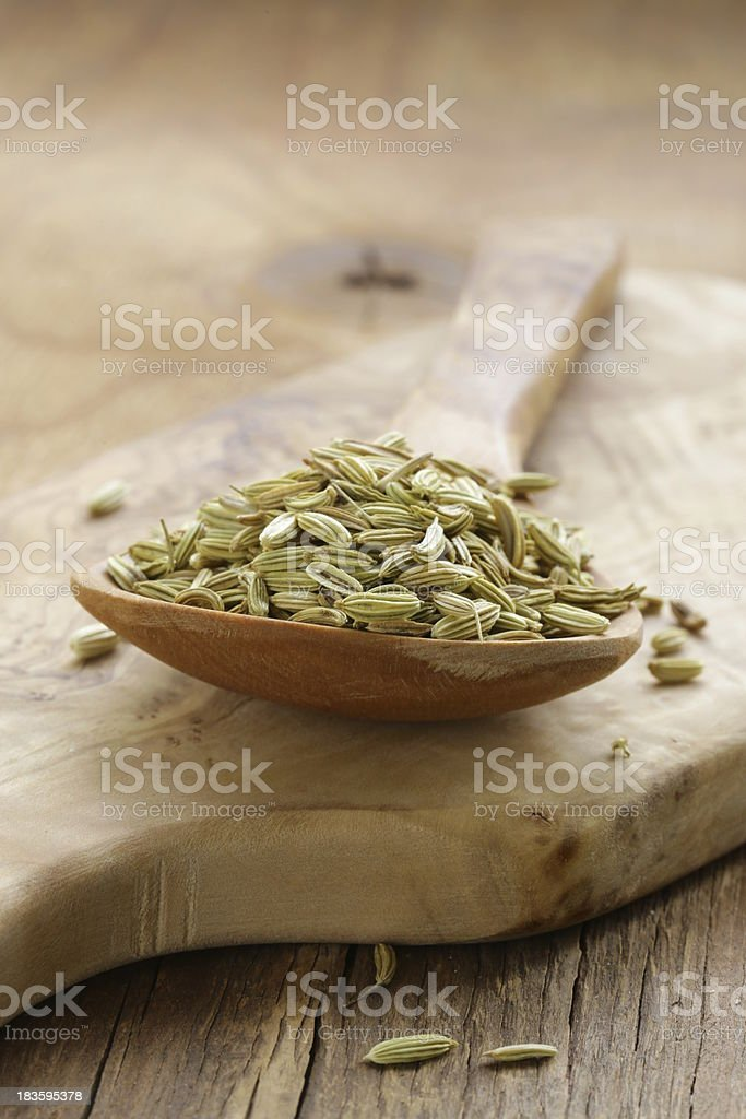 macro shot fennel seeds, aromatic spice seasoning royalty-free stock photo