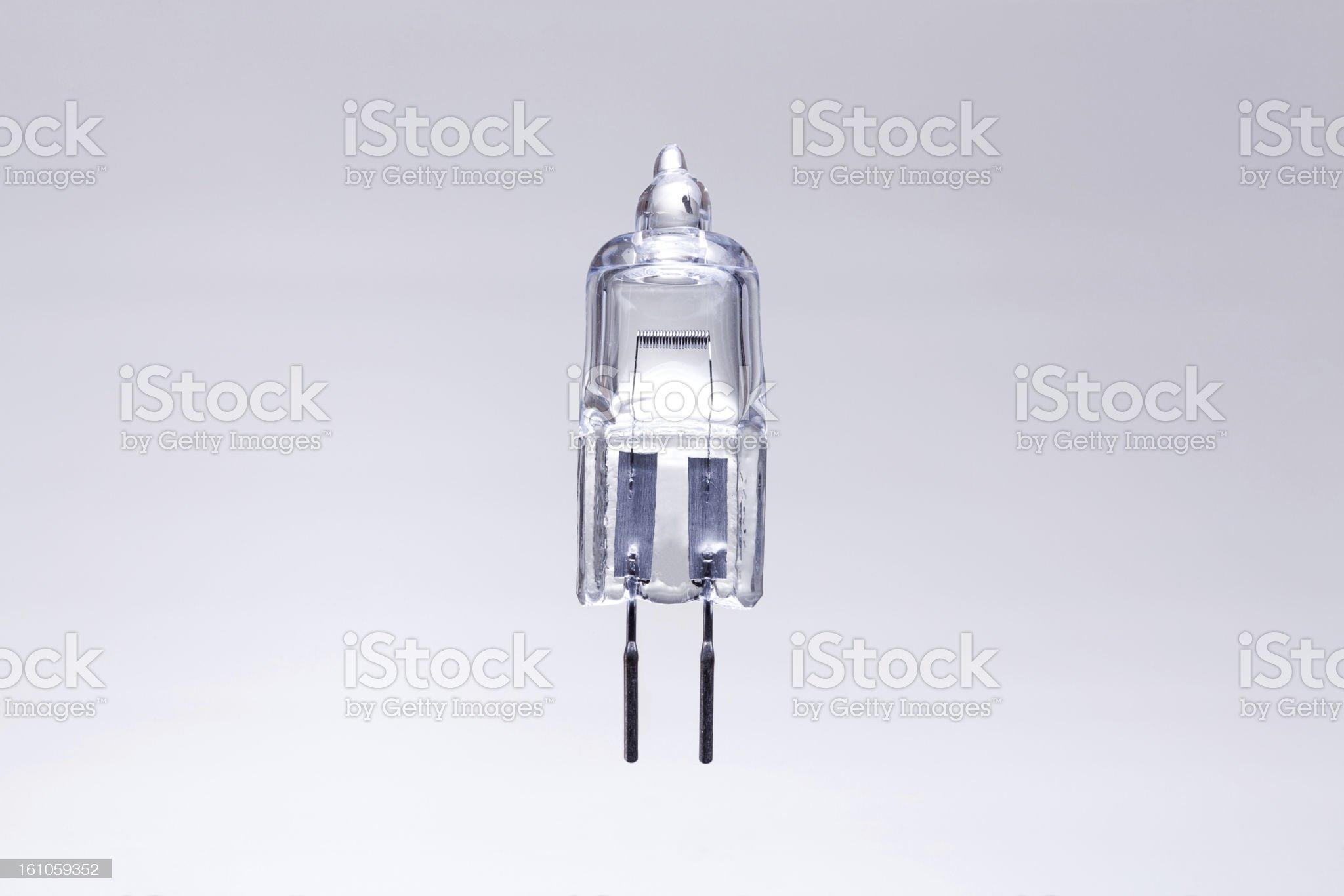 Macro Shot of a Halogen Bulb royalty-free stock photo
