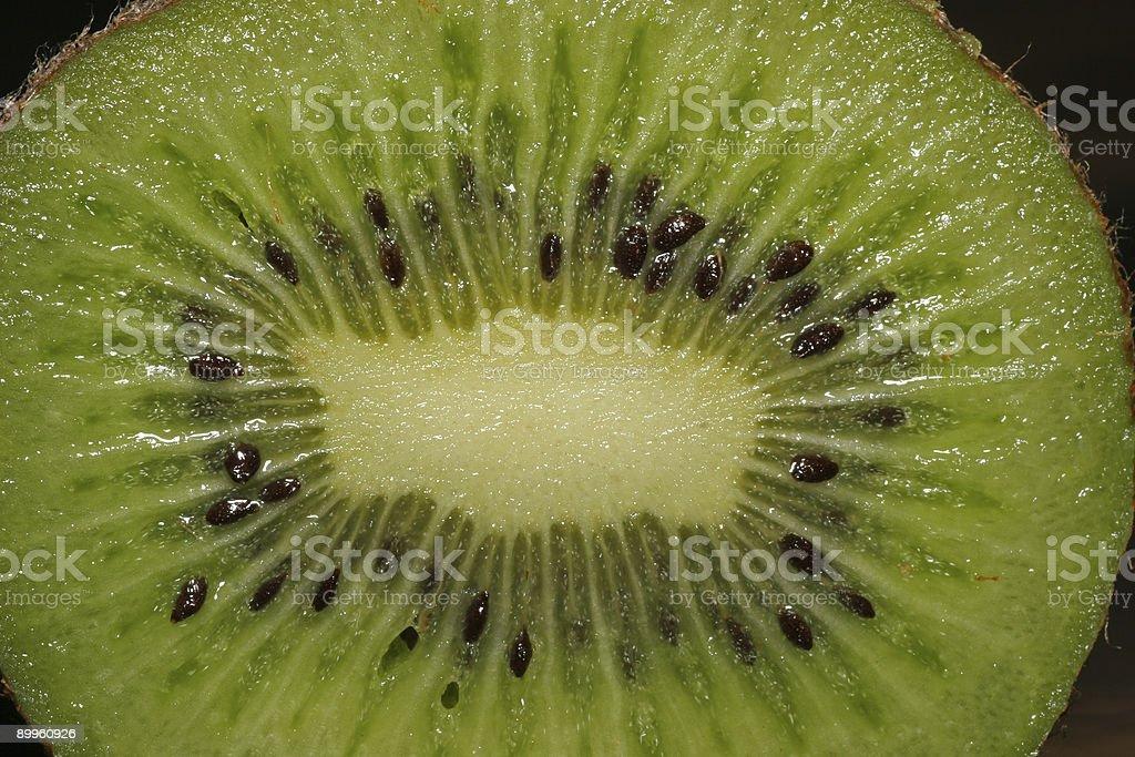 Macro shot of a kiwi stock photo