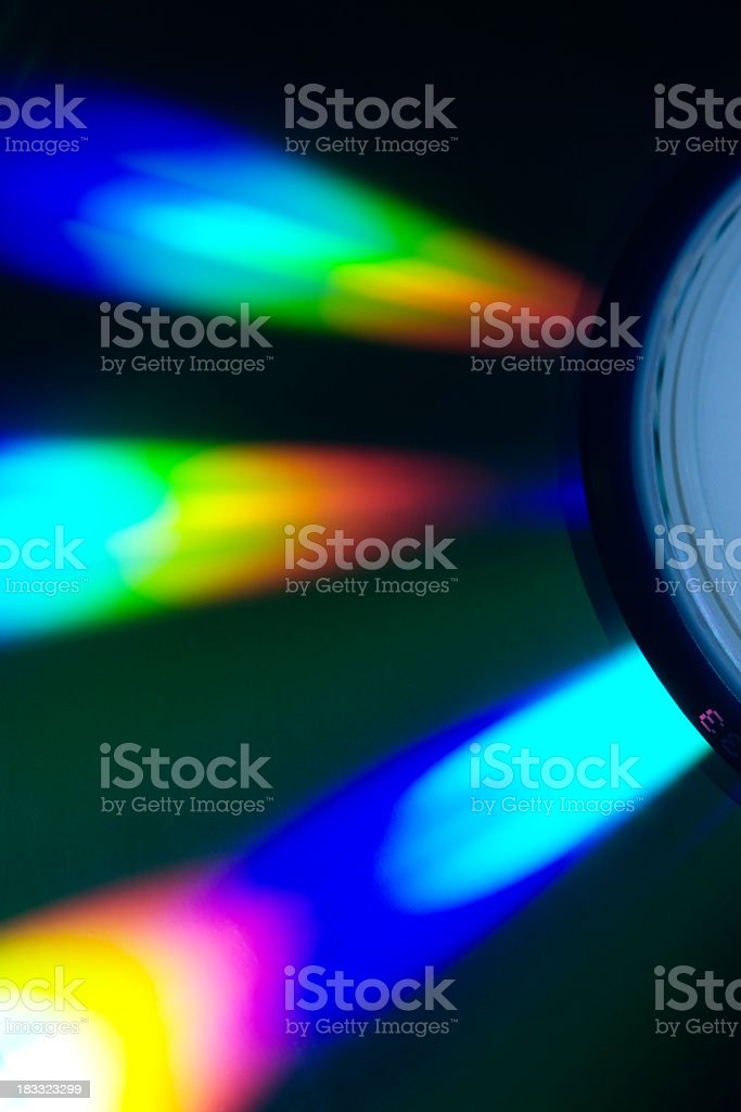 Macro shot of disk spectrum royalty-free stock photo