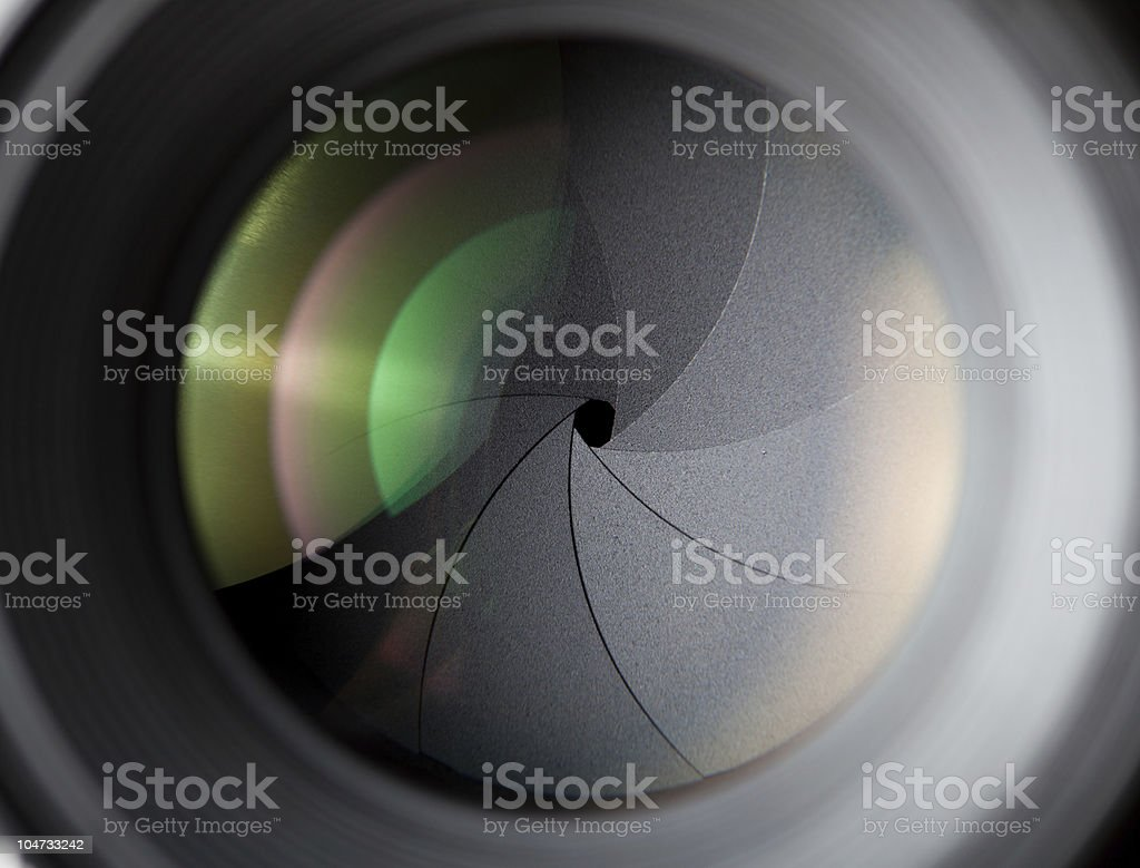 Macro shot of photographic lens royalty-free stock photo