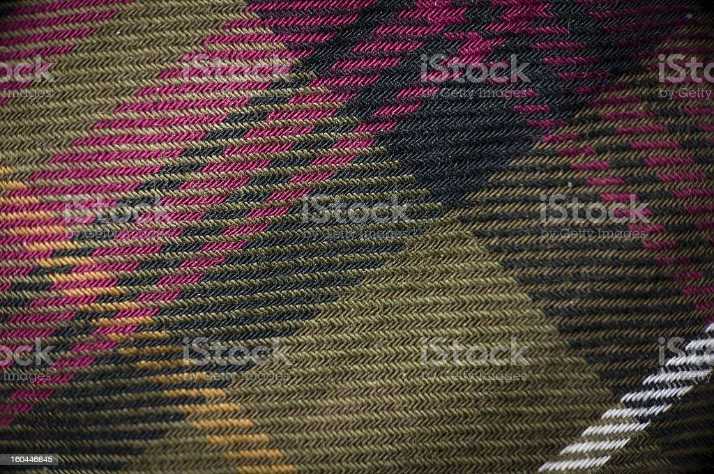 Macro shot of plaid garment royalty-free stock photo