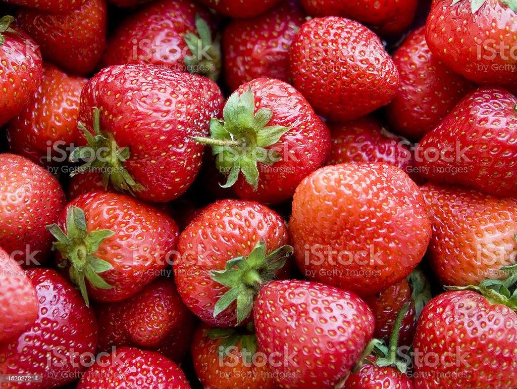 Makro Schuss von Erdbeeren Lizenzfreies stock-foto