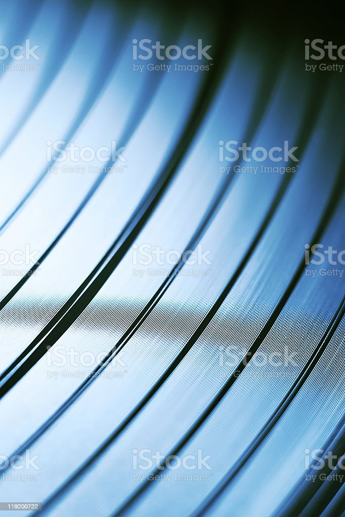 Macro shot of vinyl disc stock photo