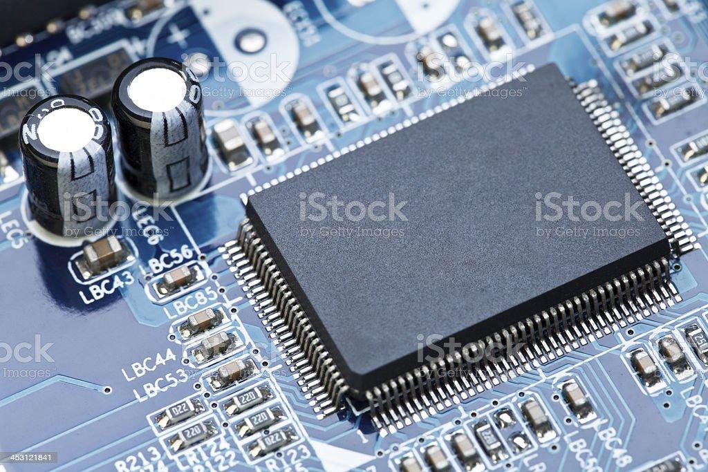 Macro shot the motherboard. royalty-free stock photo