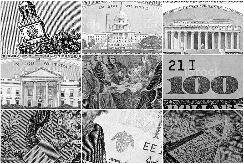 Macro shots of Money Sections royalty-free stock photo