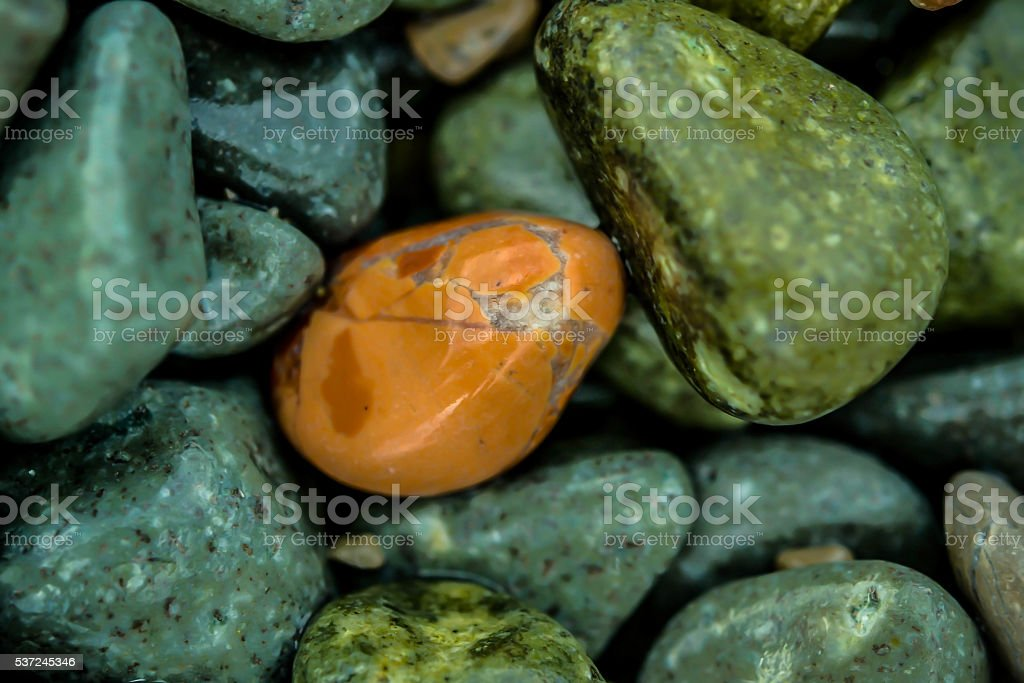 Macro small orange stone stock photo