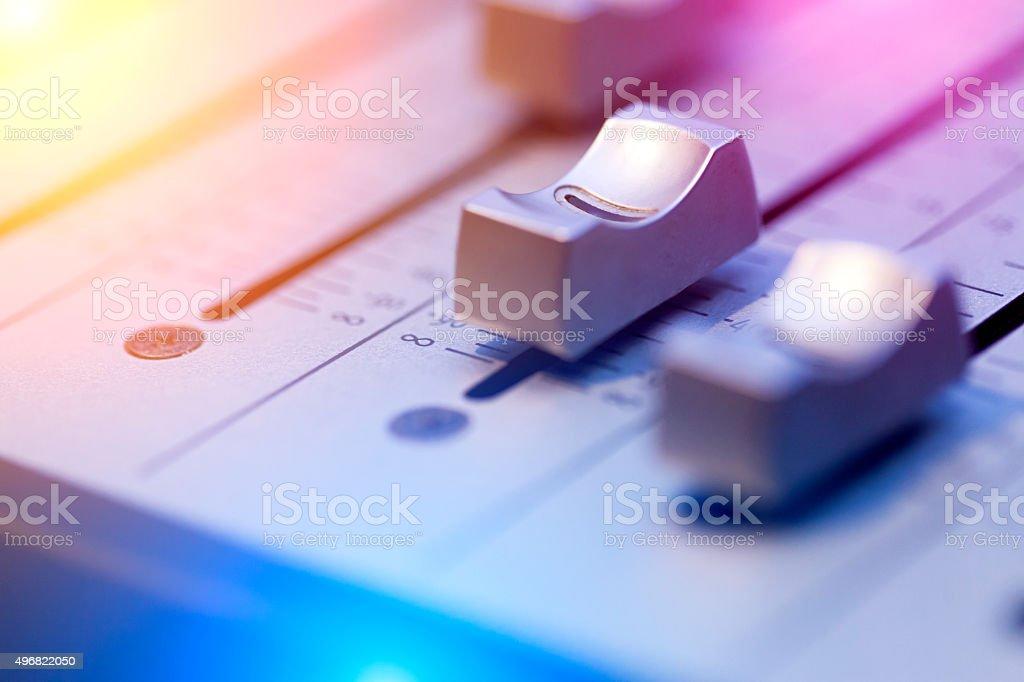 Macro Sound Mixer stock photo