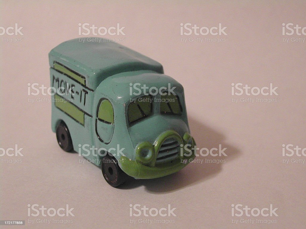 Macro - Toy Moving Truck royalty-free stock photo