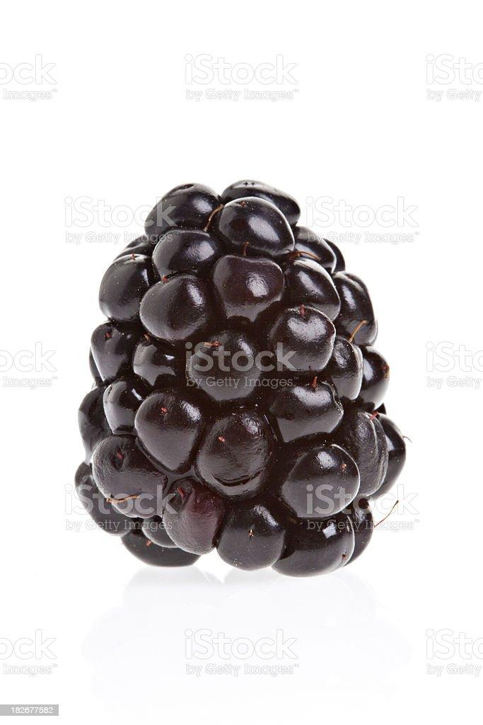 Macro view of blackberry on white background royalty-free stock photo