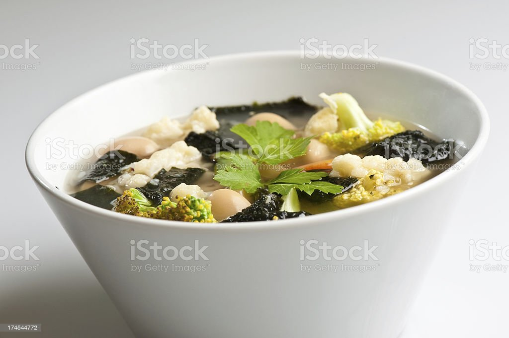 Macrobiotic soup royalty-free stock photo
