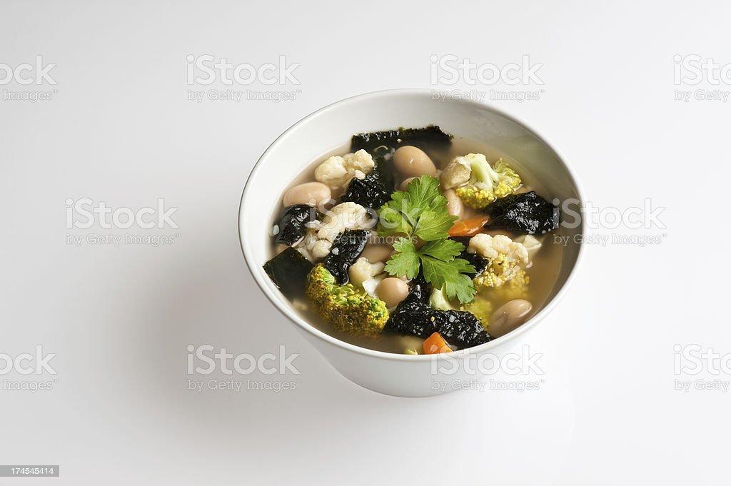 Macrobiotic soup stock photo