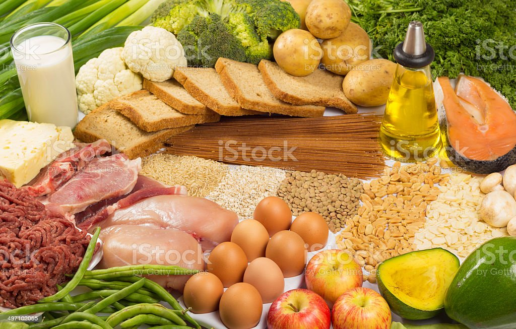 Macronutrients group stock photo