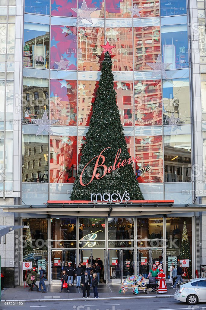 Macy's at San Francisco Downtown Union Square ont Holiday, CA stock photo