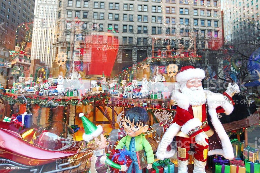 Macy's Christmas Window Display stock photo