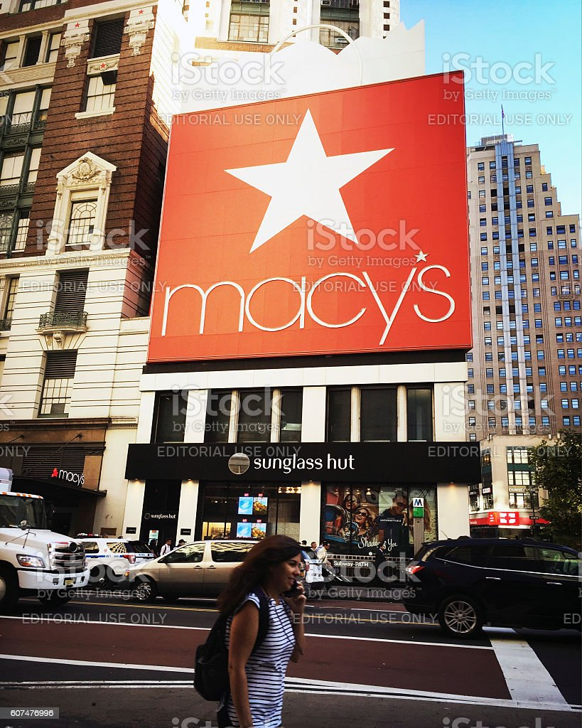 Macy's Flagship Store in Herald Square New York stock photo