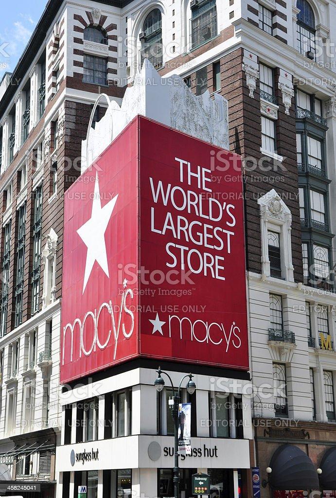 Macy's Herald Square Store royalty-free stock photo