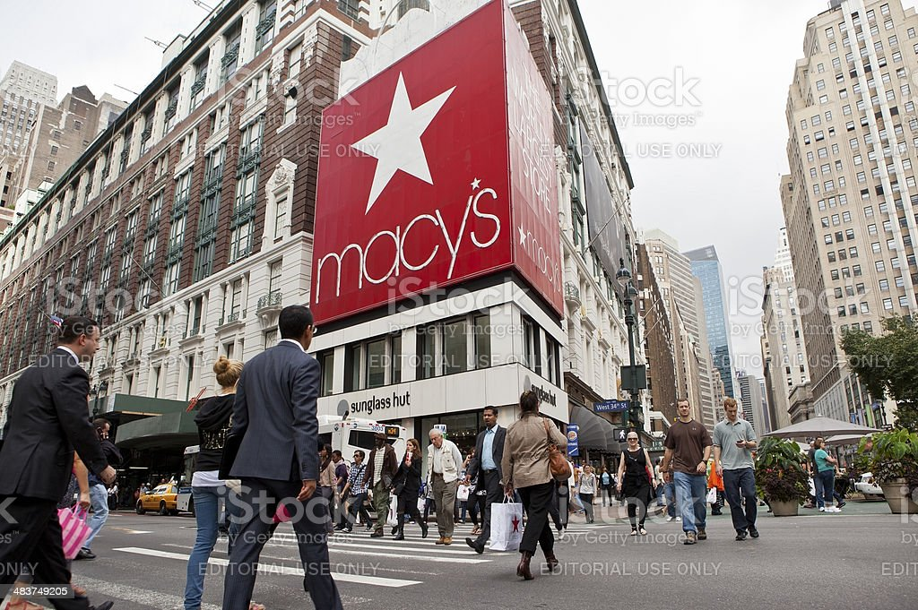 Macy's Herald Square Store royalty-free stock photo