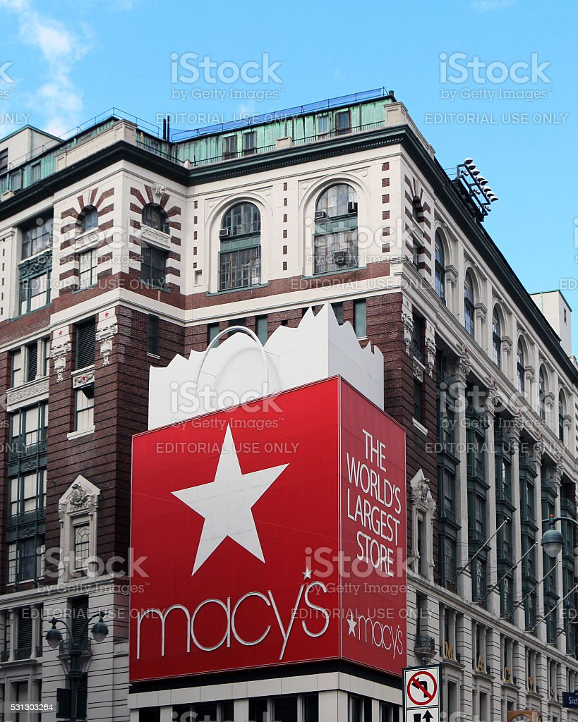 Macy's Manhattan store stock photo