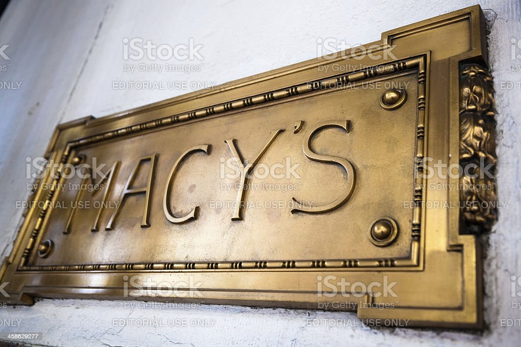 Macy's Sign stock photo