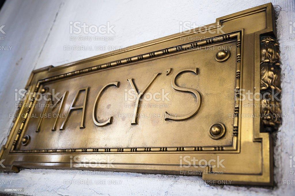 Macy's Sign stock photo