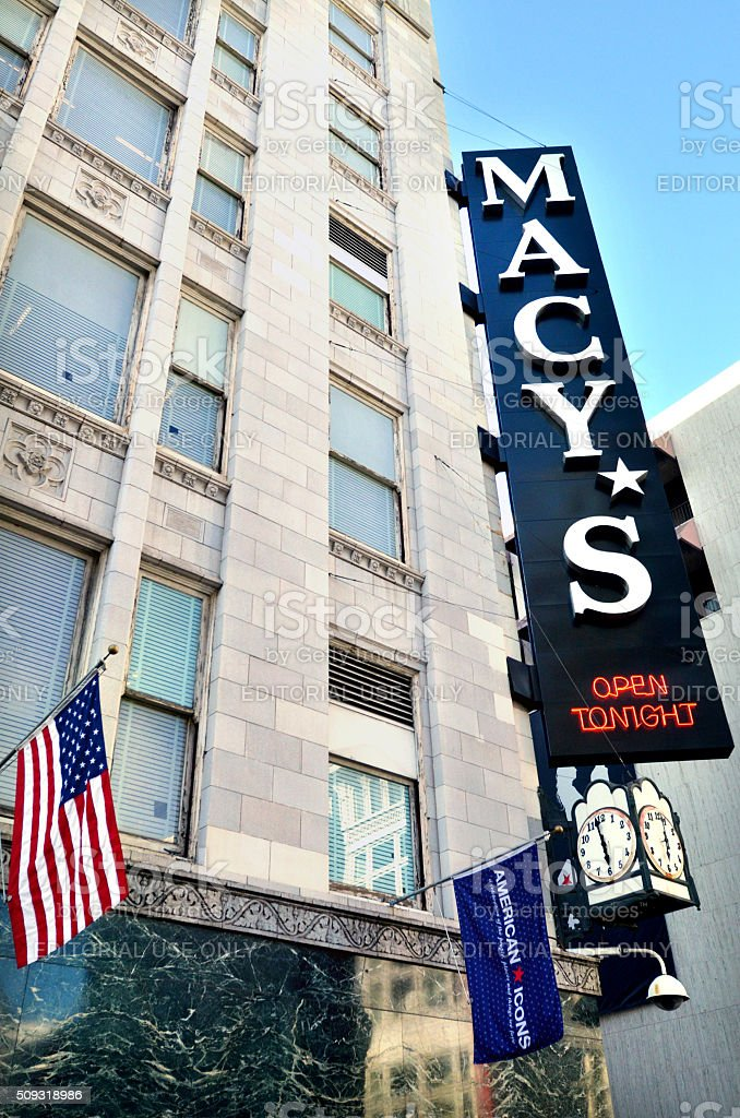 Macy's store in San Francisco Union square California stock photo