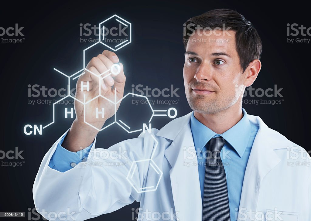 Mad about molecules stock photo