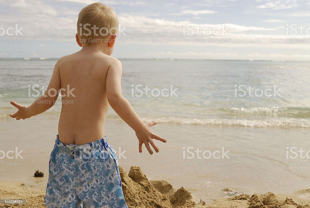 Mad at the ocean stock photo