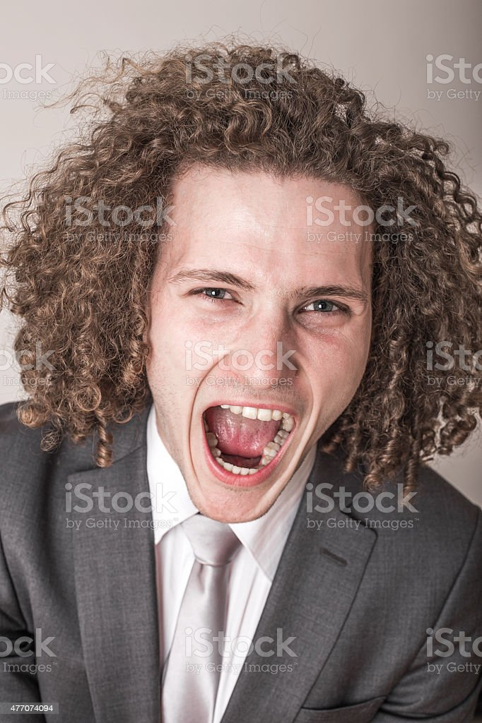 Mad Boss stock photo