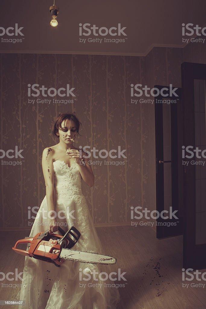 Mad bride royalty-free stock photo