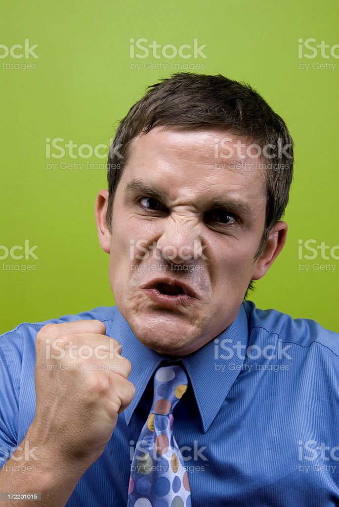 Mad Business Man. royalty-free stock photo