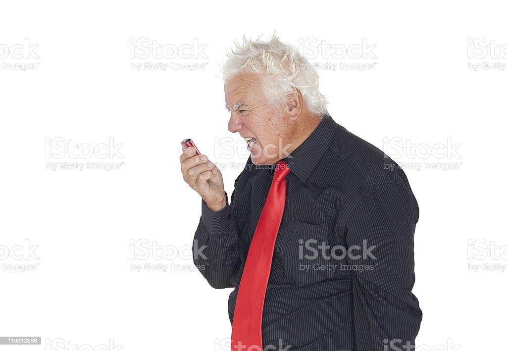 Mad businessman royalty-free stock photo