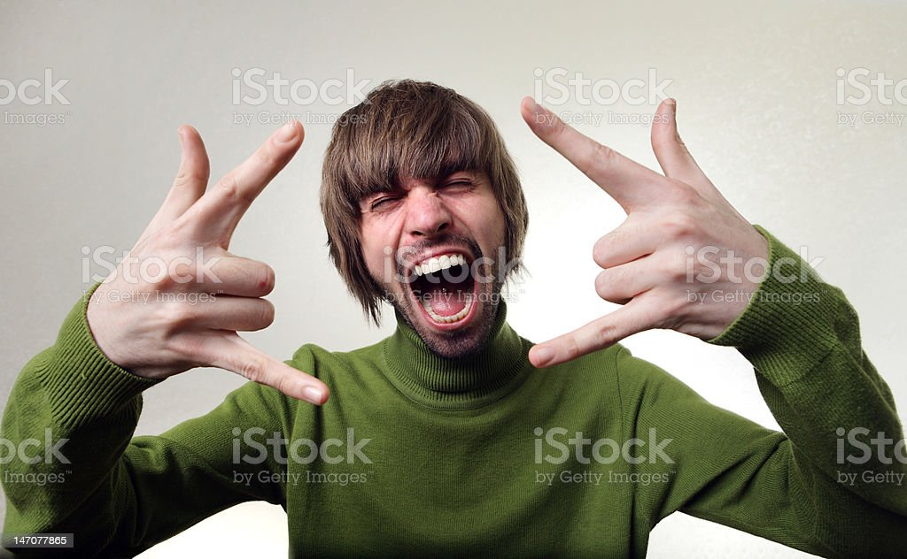 mad face royalty-free stock photo