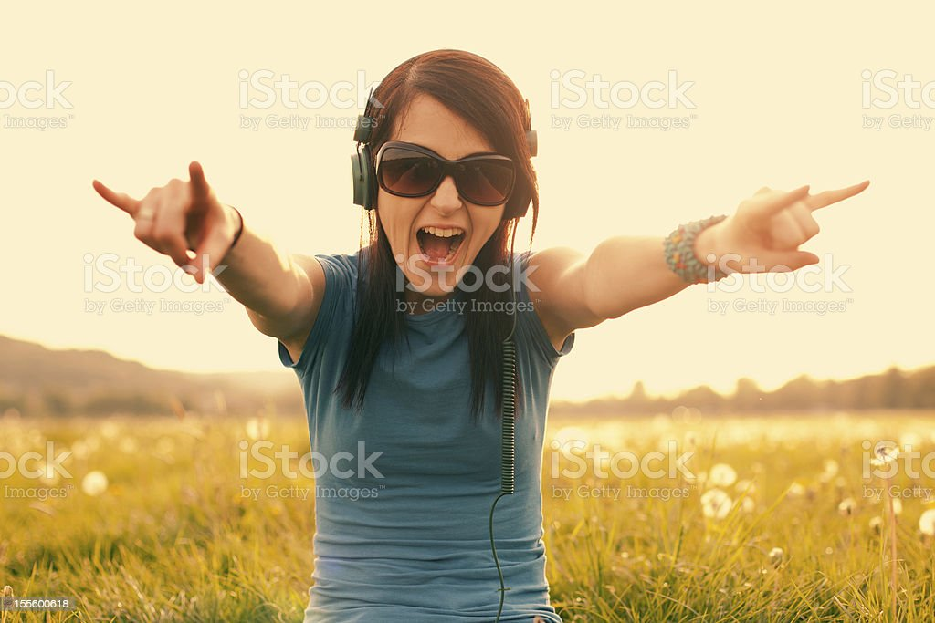Mad girl royalty-free stock photo