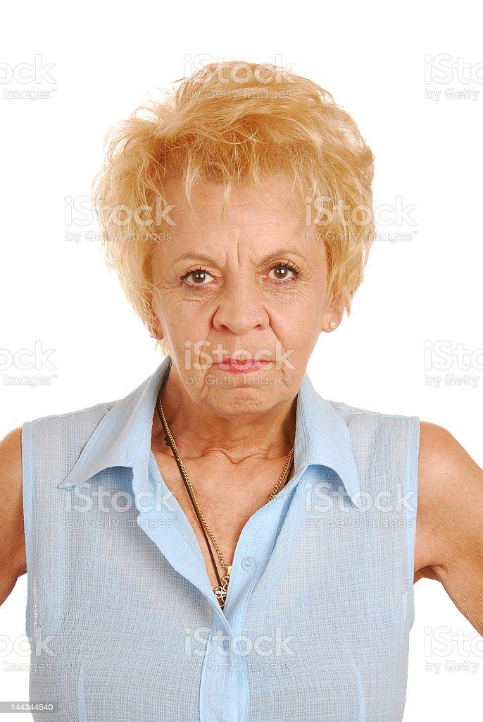 Mad granny royalty-free stock photo