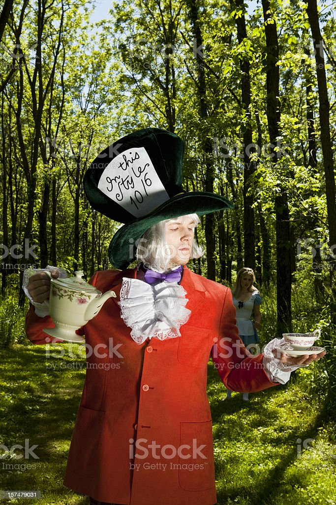 Mad Hatter Expecting Company stock photo