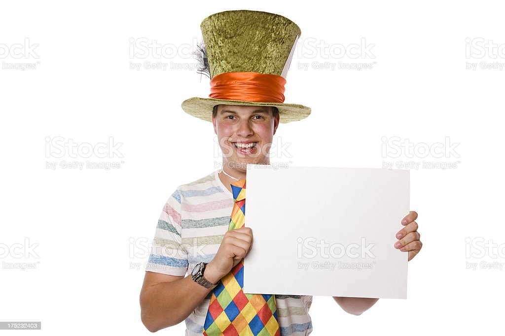 Mad Hatter Sign royalty-free stock photo