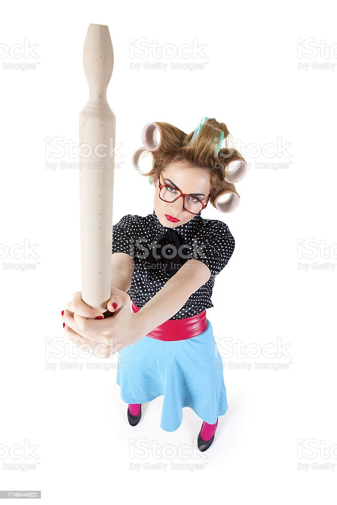 Mad housewife royalty-free stock photo