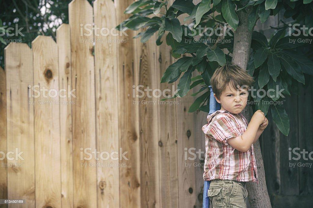 mad kid stock photo
