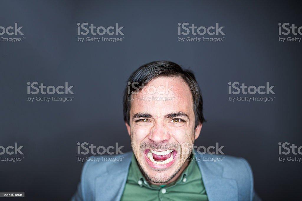 Mad man stock photo