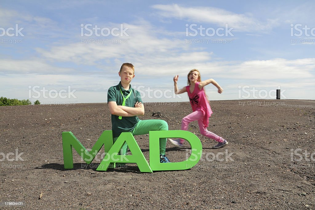mad marching stock photo