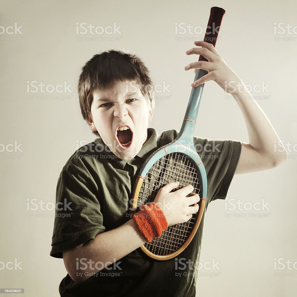 mad musician royalty-free stock photo
