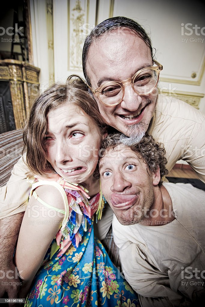 Mad Psychologist and his Insane Patients stock photo