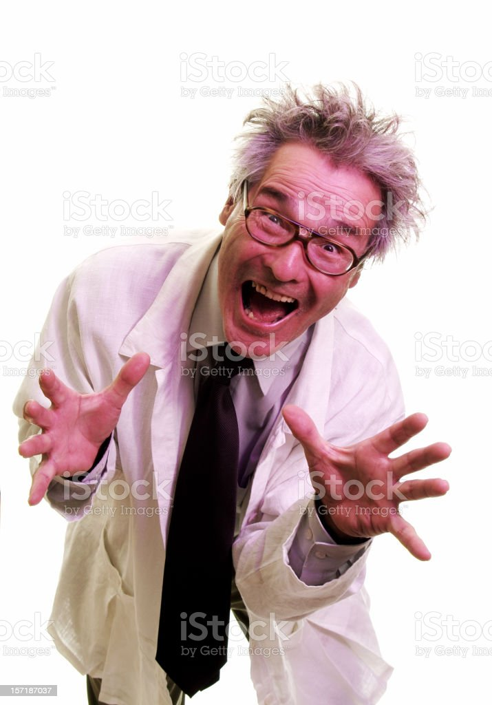 Mad Scientist 6/6 royalty-free stock photo
