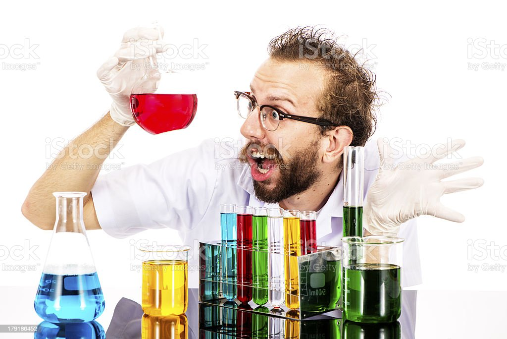 Mad Scientist Frustrated royalty-free stock photo